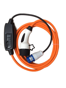 Commando / CEE to Type 2 plug EV Charging Cable, Electric Vehicle Charger. 5 meters, 16amp, 240v, 3.6kw per hour