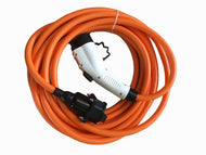 EV cable extension lead Type 1 to Type 1, 10 meters long, 32amp. Nissan, Mitsubishi, Toyota, Ford, Honda, Chevrolet, Citroen, Kia, Peugeot, Vauxhall, Opel