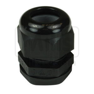 M25 Black Nylon Cable Gland with Locking Nut x 50