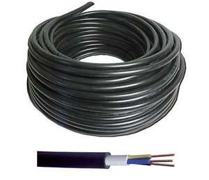 50 meters x 6mm 3-core Hi-Tuff Cable, PVC NYY-J