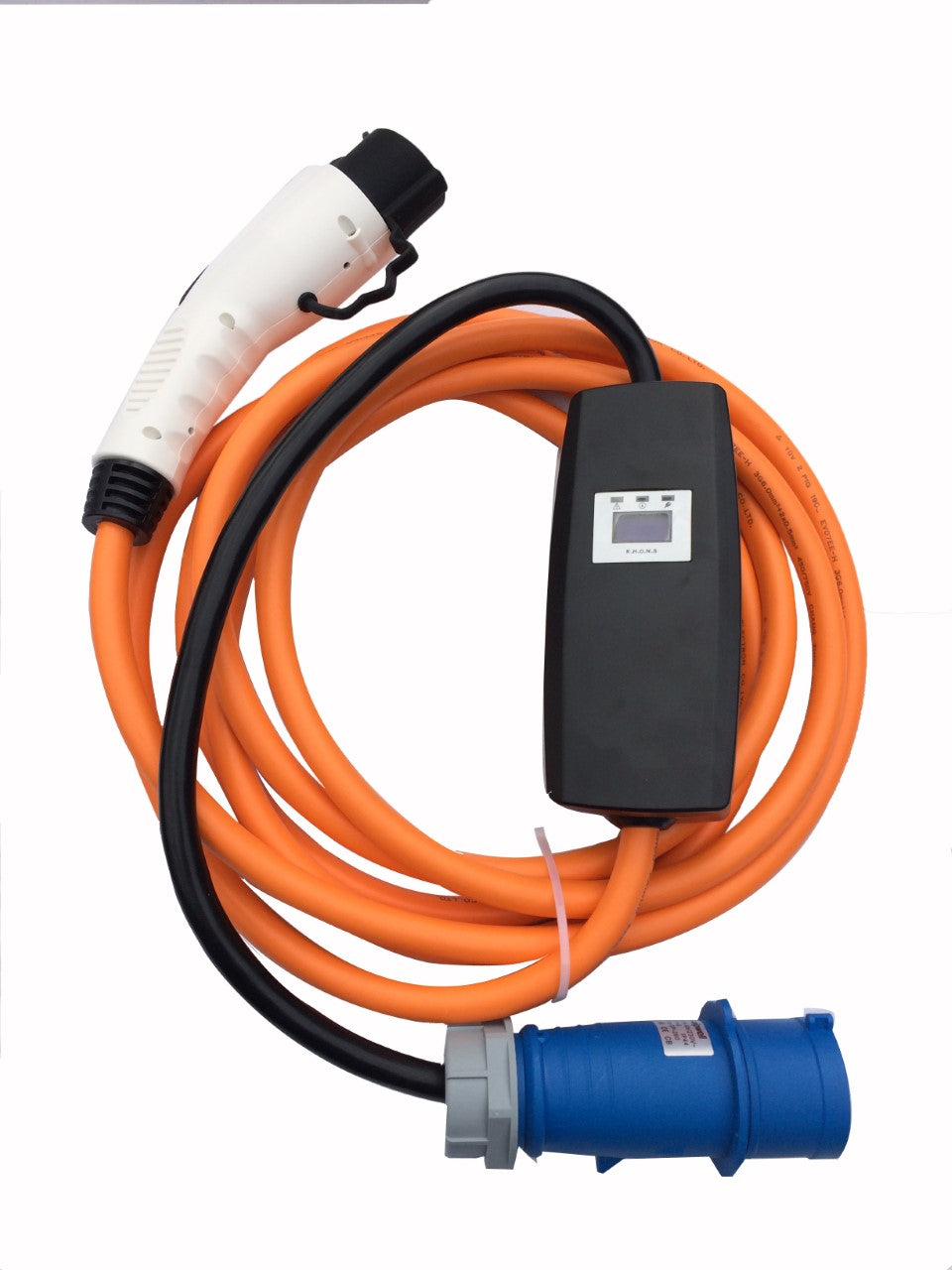 Nissan, Mitsubishi, Citroen, Chevrolet, Fiat, Ford, Honda, Peugeot, Toyota, Vauxhall 7kw PHEV / EV Charger, Charging Cable - 32amp EVSE - 5 meters long