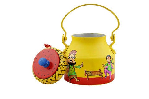 The Bhangra Hand Painted Kettle For Home Decor - Quirky Gift