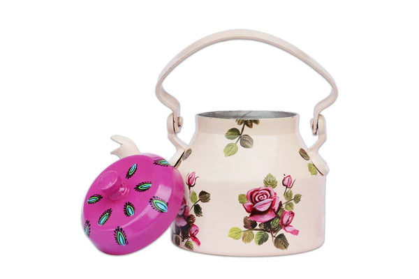 Hand Crafted Tea Kettle/Tea Pot for Home Decor- Pink Blossom