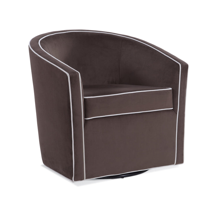 Keely Maple Brown Swivel Chair