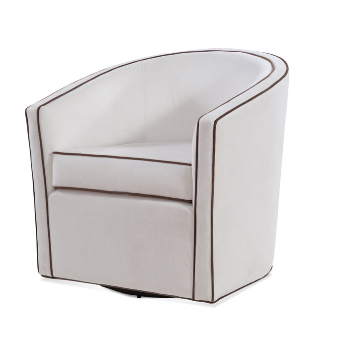 Keely Cream Swivel Chair