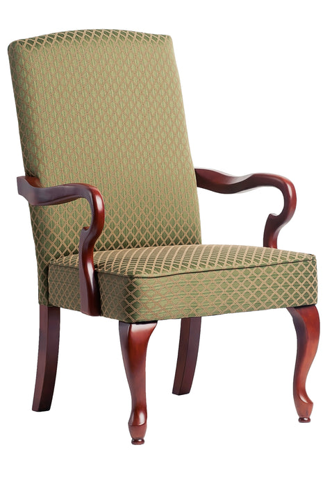 Derby Green Gooseneck Arm Chair
