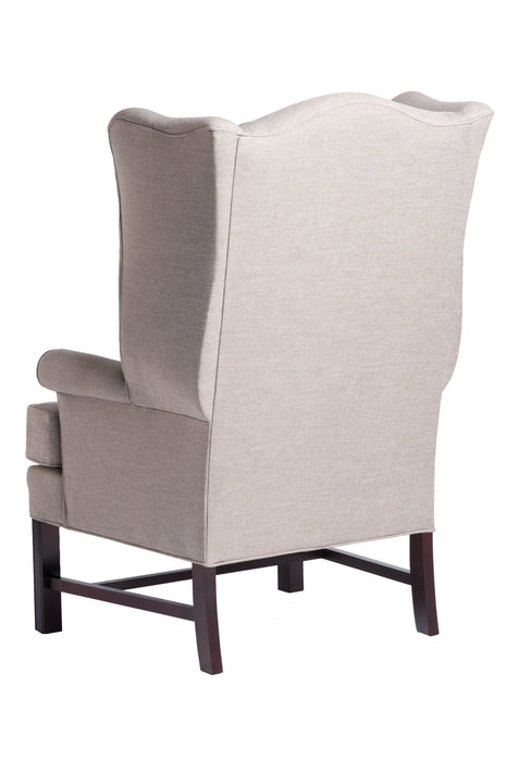 Chippendale Wing Chair - Jitterbug Linen