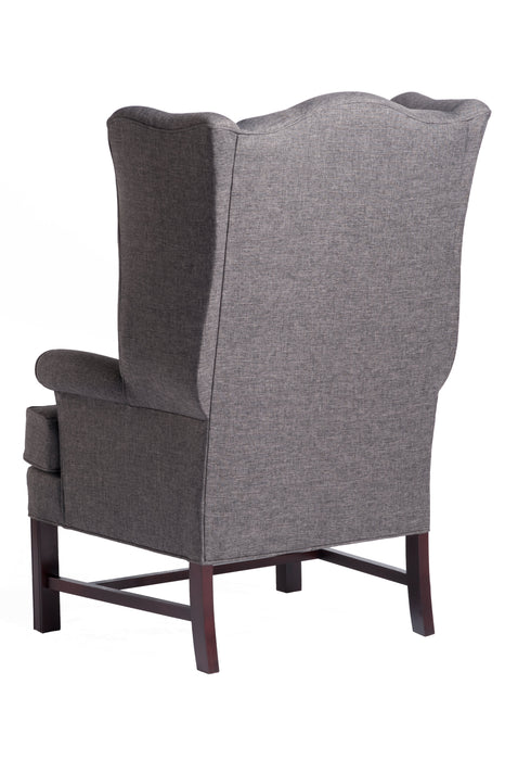 Chippendale Wing Chair - Jitterbug Gray