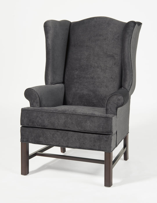 Chippendale Wing Chair - Elizabeth Charcoal