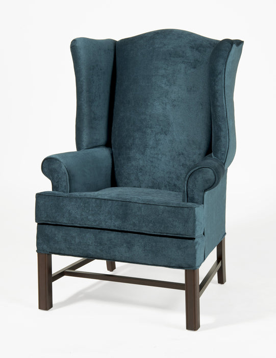 Chippendale Wing Chair -Elizabeth Ocean