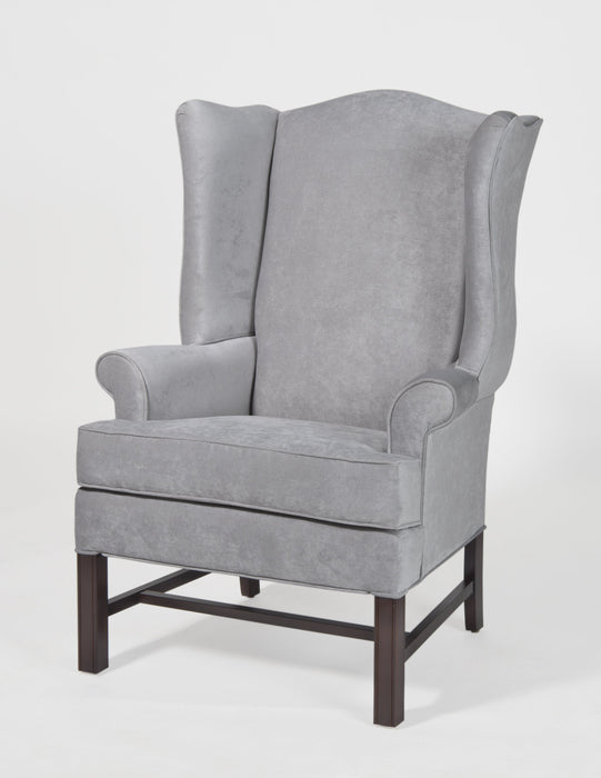 Chippendale Wing Chair -Elizabeth Silver