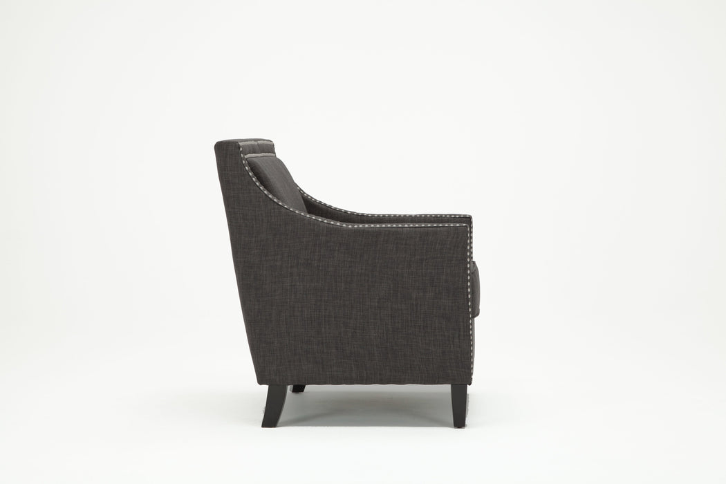 Taslo Charcoal Accent Chair