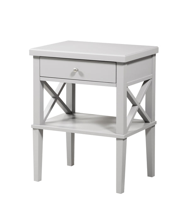 Marta Dove Gray Nightstand
