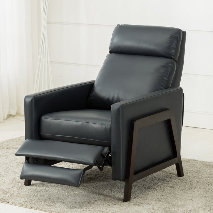 Maxton Push Back Recliner - Midnight Blue