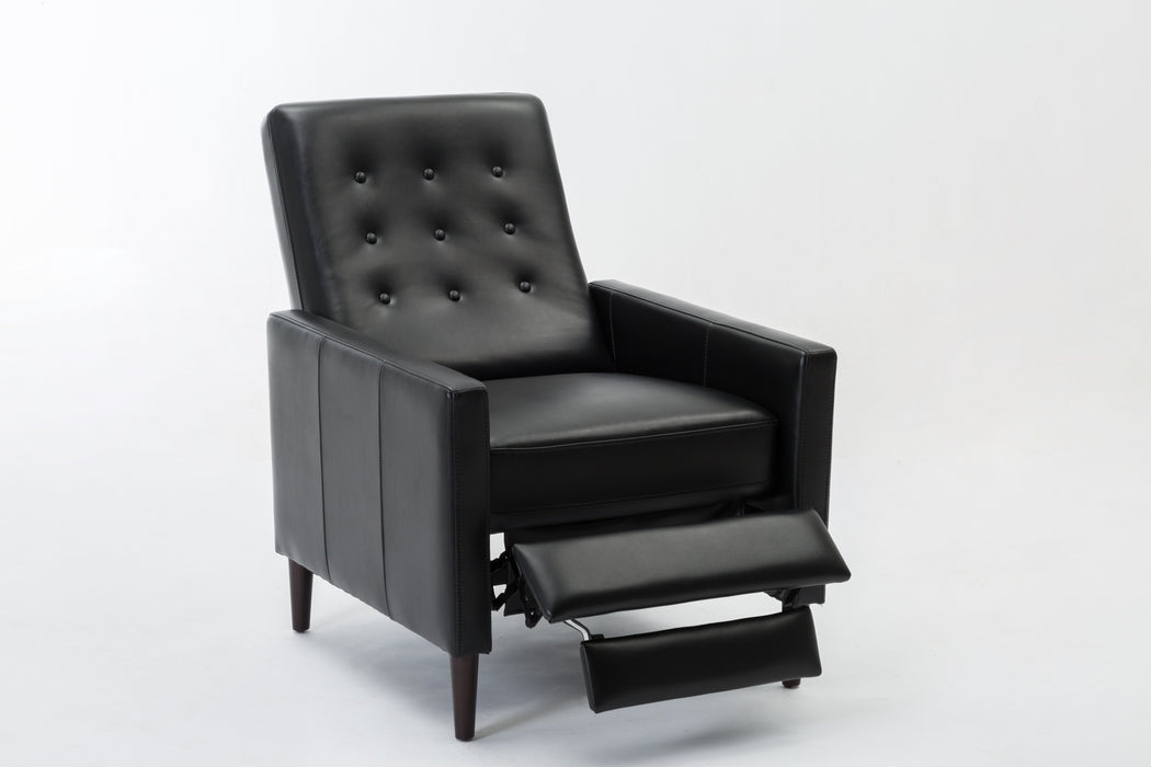 Conley Push Back Recliner - Black