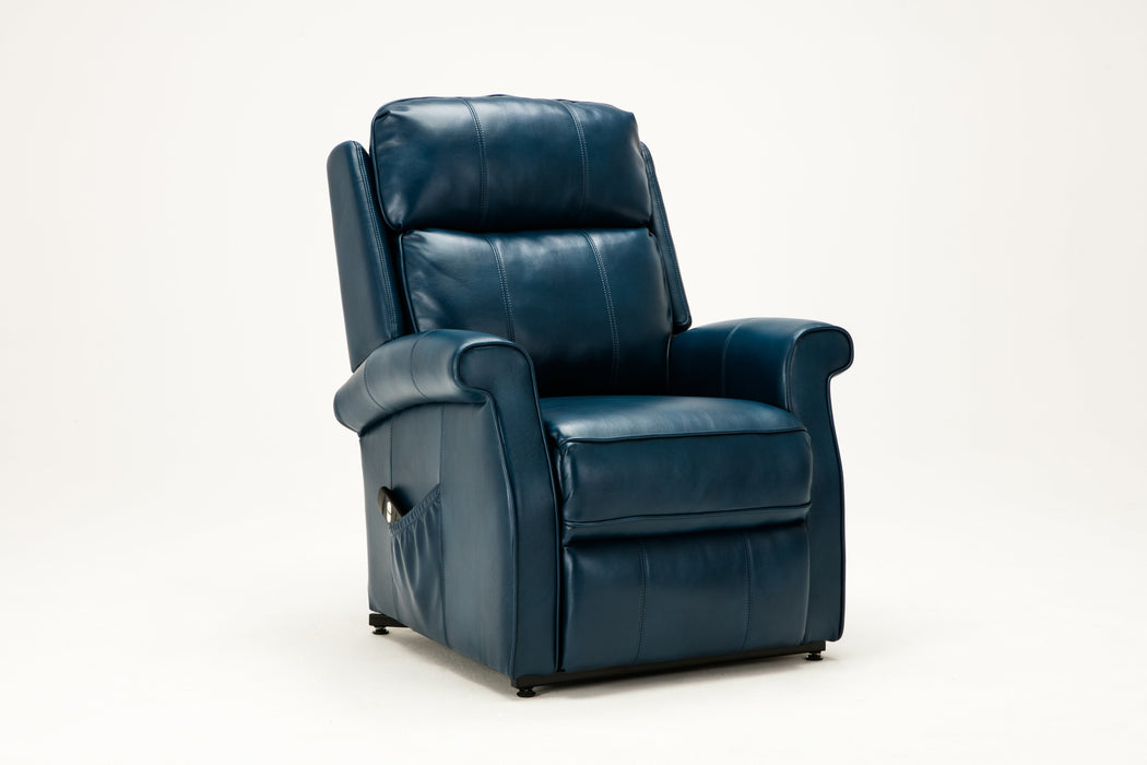 Lehman Navy Blue Traditional Lift Chair