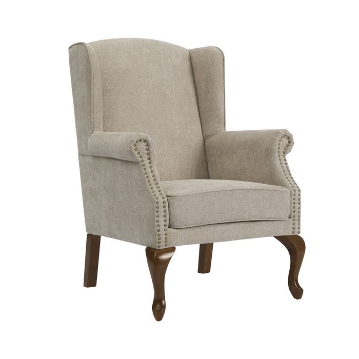 Lorell Wingback Arm Chair - Oatmeal