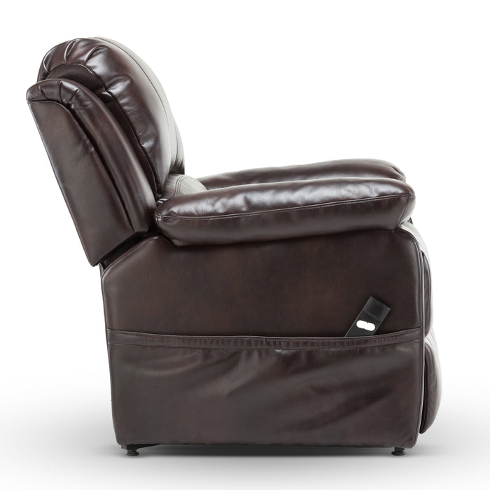 Spence Burnished Brown Leather Gel Lift Chair