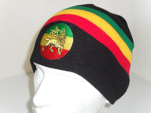 Black Lion of Judah Beanie