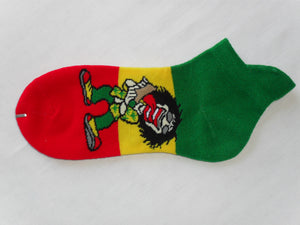 Rasta Skinning Up Spliff Socks