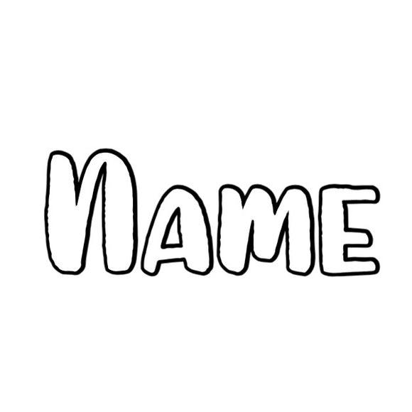 Name Decal 1