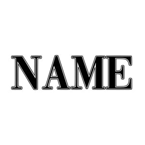 Name Decal 2