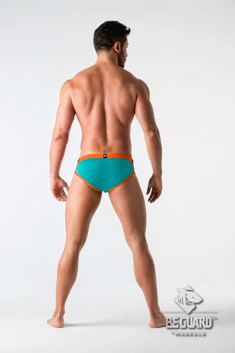 Swimming Brief Zip Front Imitation