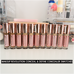 Makeup Revolution Conceal & Define Concealer Swatches