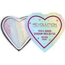 orabelca:Makeup Revolution - Triple Baked Rainbow Highlighter