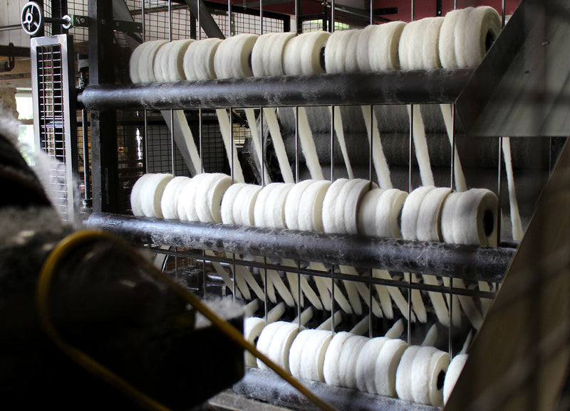 Production at the Woolmill - Carding
