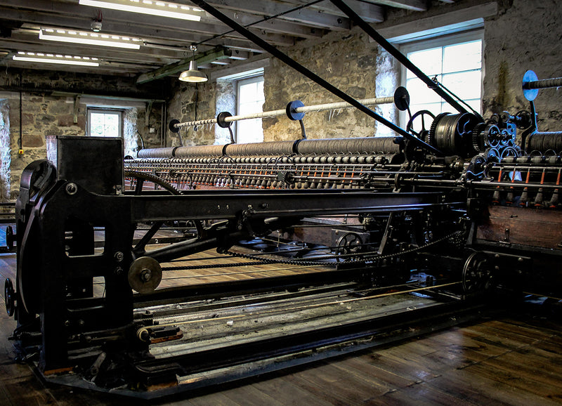 Production at the Woolmill - Spinning