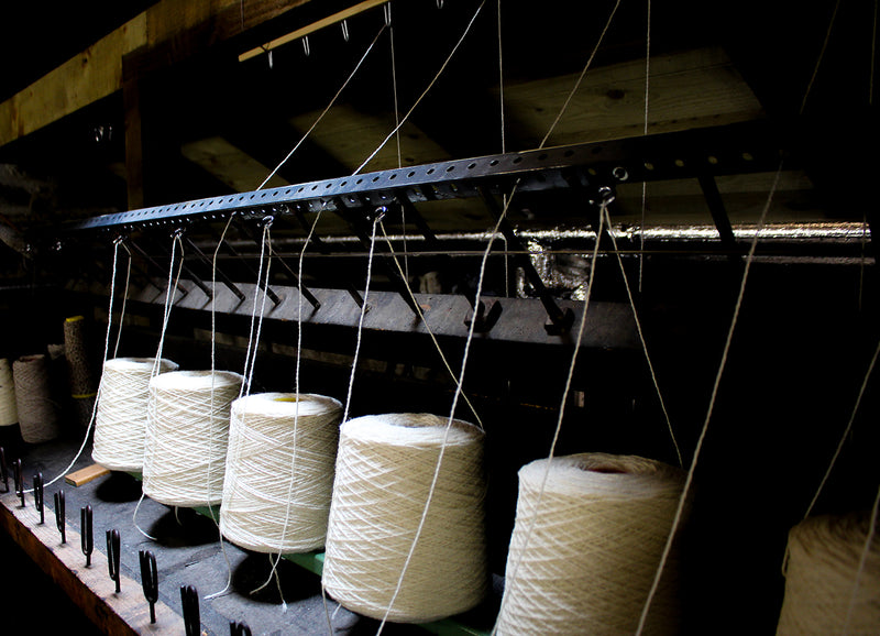 Production at the Woolmill - Plying and Hanking