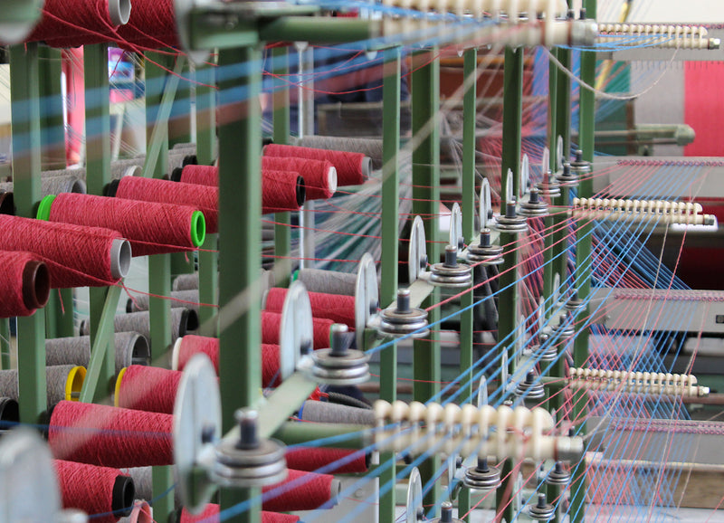 Production at the Woolmill - Warping
