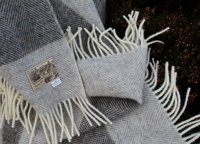 Natural Herringbone Throw