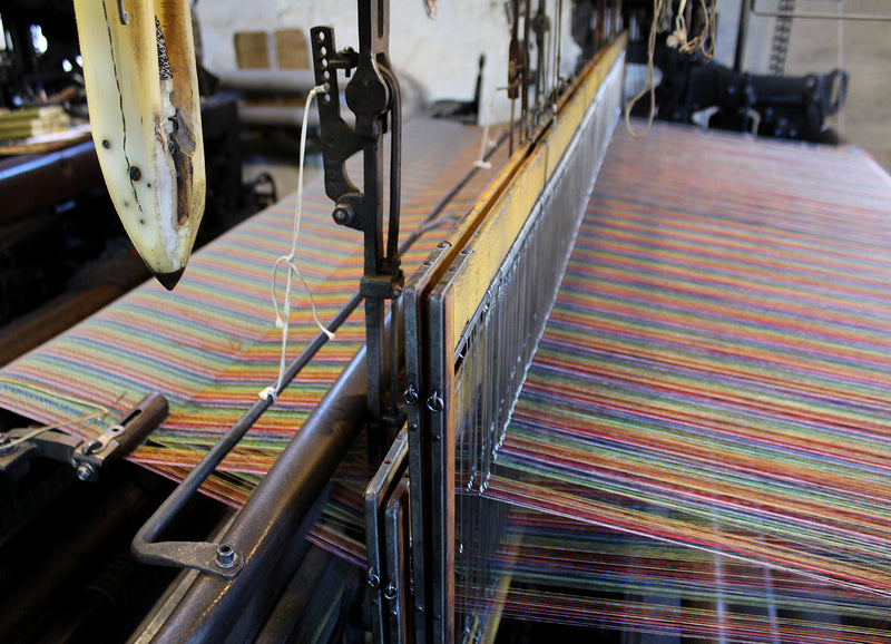 Production at the Woolmill - Weaving