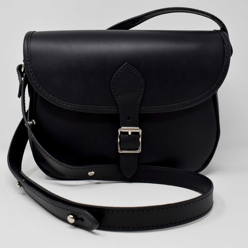 Black Leather Saddle Bag (Ben Vrackie)