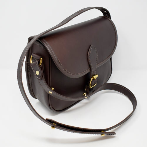 Luxury Brown Leather Saddle Bag