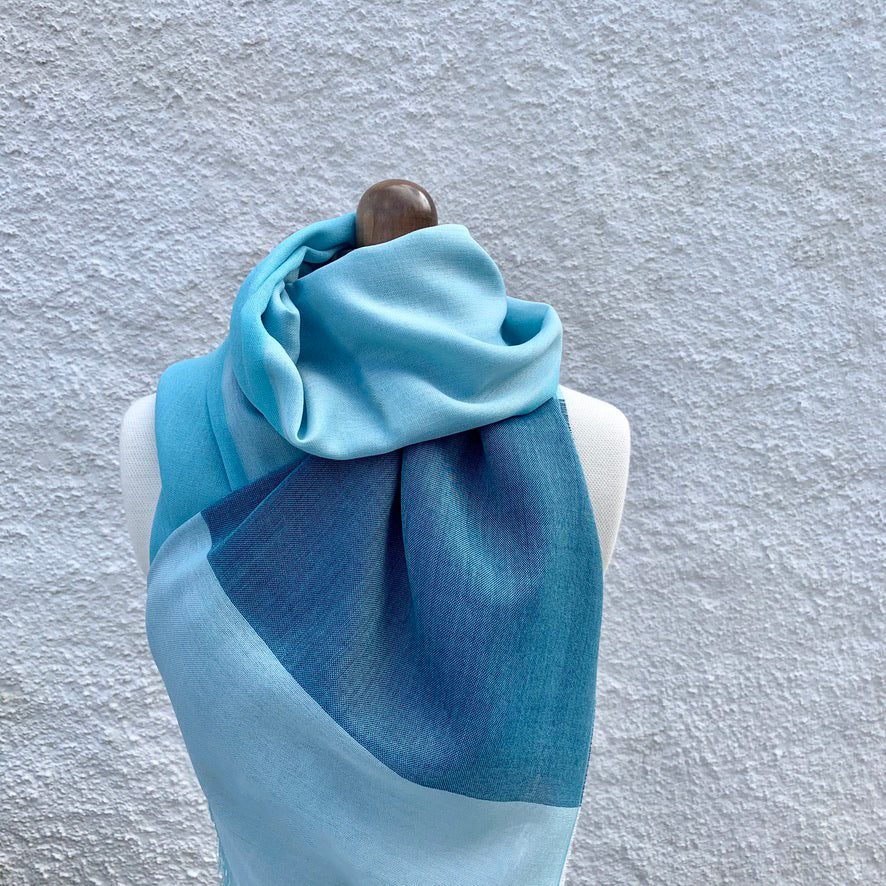 Burn Blue Scarf