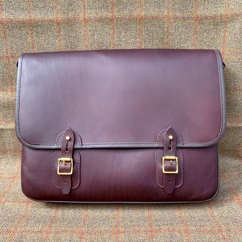 Luxury Brown Leather Satchel
