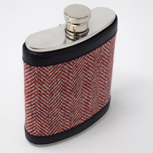 Highland Warmth Herringbone Hip Flask