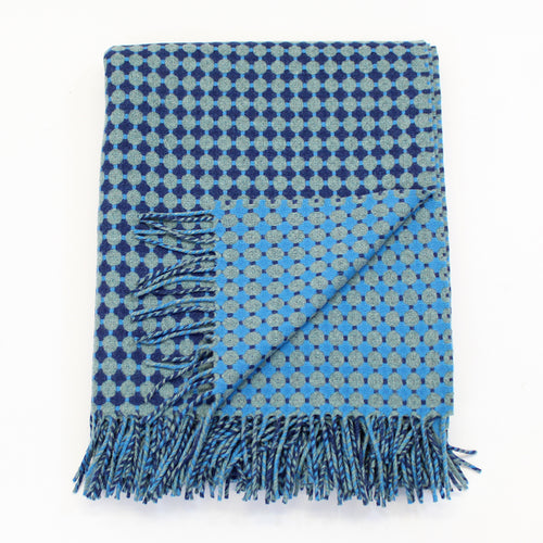 Honeycomb Blue & Teal Throw