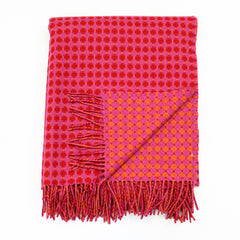 Throw - Honeycomb (Pink & Red)