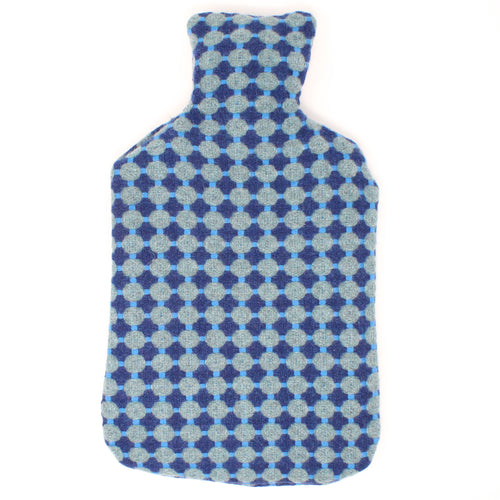 Hot Water Bottle - Honeycomb (Blue & Teal)