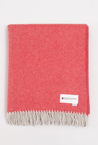Honeycomb Pink & Orange Throw