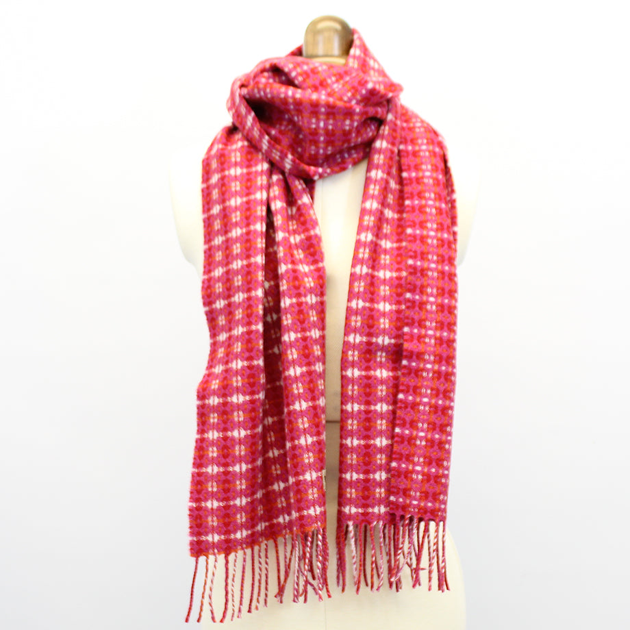 Pink super soft Geelong geometric scarf