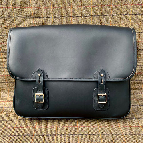 Luxury Navy Leather Satchel