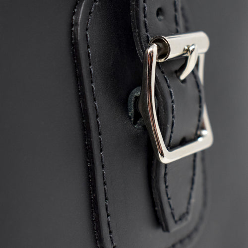 Black Leather Satchel Bag (Ben Vrackie)