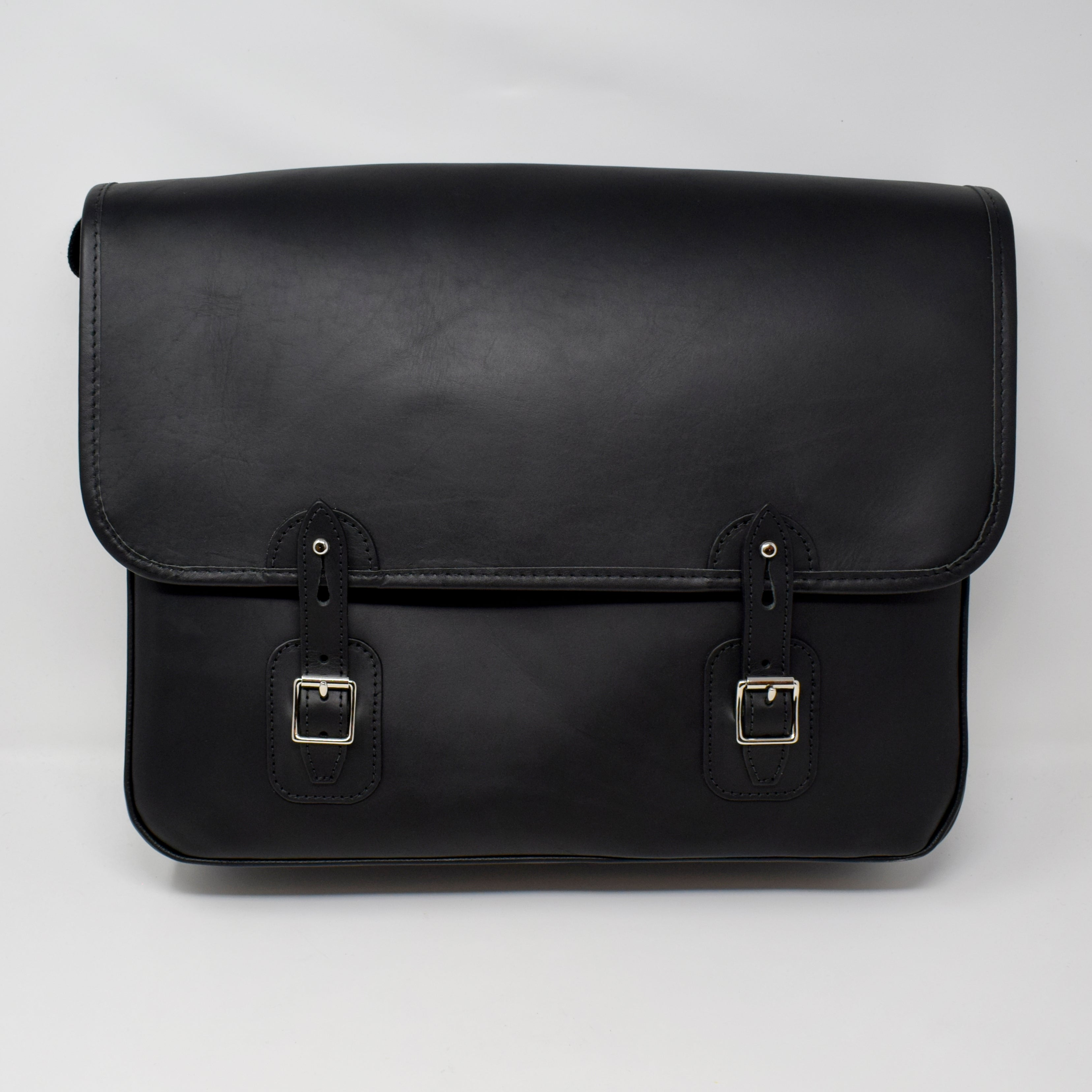 Luxury Black Leather Satchel