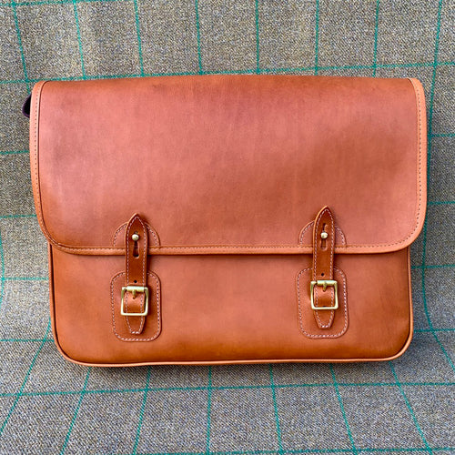 Luxury Tan Leather Satchel
