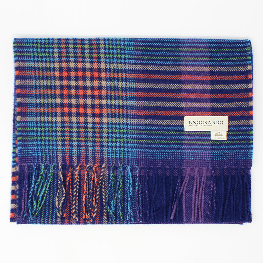 Festive Purple Check Scarf
